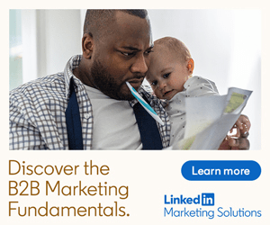 programmatic ad featuring LinkedIn Marketing Solutions
