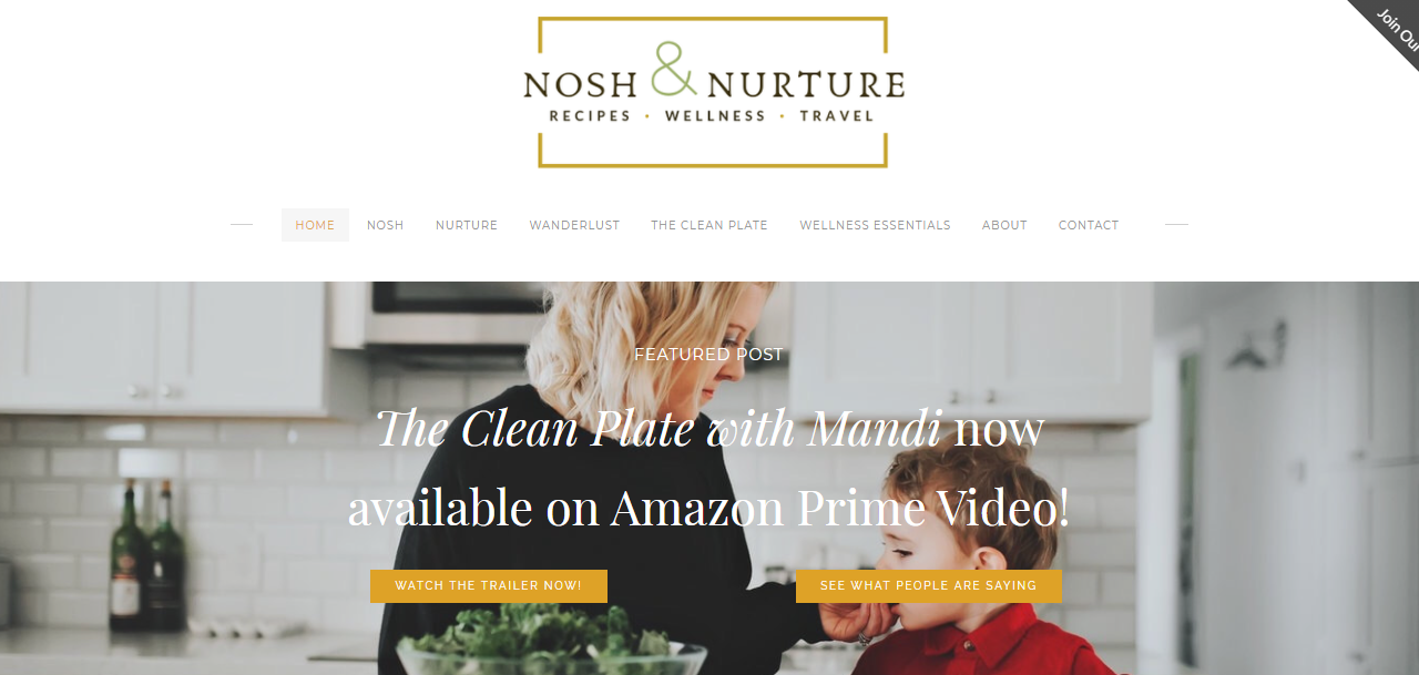 Food Blogger Nosh and Nurture Lands Streaming Show on Amazon Prime