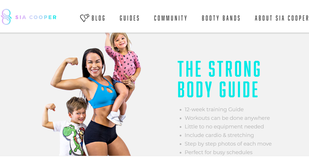 Blogger Sia Cooper Earns Big Talking about Fitness Journey and Motherhood